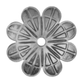 "Stamped Steel Rosette. 1/4"" Hole, 2"" Dia"