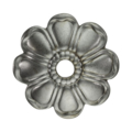 "Stamp Steel 8 Petal Flower. 3/8"" Hole, 2-5/8"""