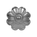 "Stamped Steel 8 Petal Flower.2-5/8"" Diameter"