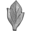 "Cast Iron Leaf.  1-1/4"" Width,2-1/8"" Height."