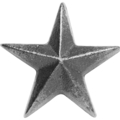 "Cast Iron Star,Threaded. 1-15/16"" Diameter"