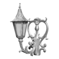"Aluminum Scroll Holland Sconce. 14"" W, 21"" H"