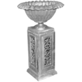 "Aluminum Large Urn Planter. 17"" Top, 29"" H"
