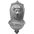 "Aluminum Lion Wall Planter. 10"" W, 20"" H"