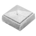 "Aluminum Sand Cast Post Cap. Fits 2-1/2"" Square"