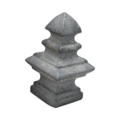 "Cast Iron Finial . Fits Over 5/8"" Square."