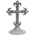 "Cast Iron Fleur De Lis Cross. 13-1/2"" H, 9-5/8"" Diameter"
