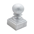 "Aluminum Newel Post Ball. Fits1-1/4"" Square"